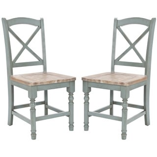 Safavieh Country Classic Dining Provenical X-Back Pale Blue Dining Chairs (Set of 2)