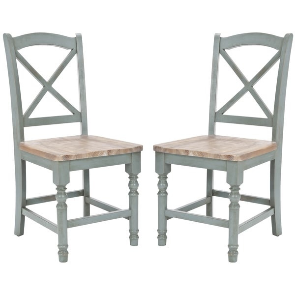 Safavieh Country Classic Dining Provenical X-Back Pale Blue Dining Chairs (Set of 2  sc 1 st  Overstock.com : pale blue dining chairs - Cheerinfomania.Com