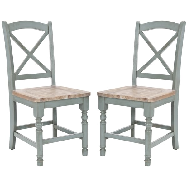 Safavieh Country Classic Dining Provenical X-Back Pale Blue Side Chairs (Set of 2)