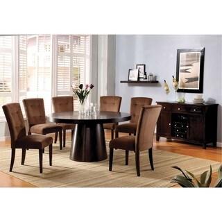 Furniture of America Havana Espresso 2-piece Dining Table Set