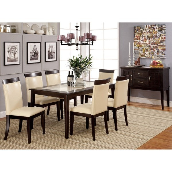Furniture of America Pedrina 2-piece Dining Table and Server Set