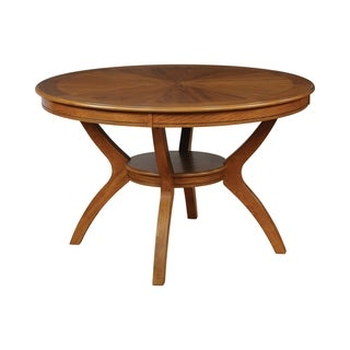 Nelms Table with Shelf, Brown (table only)
