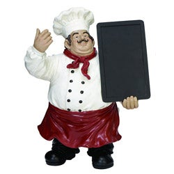 Casa Cortes 20-inch French Chef with Chalkboard Kitchen Decor