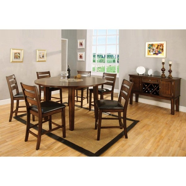 Furniture Of America Sherwood Dining Table With Buffet/ Server Set