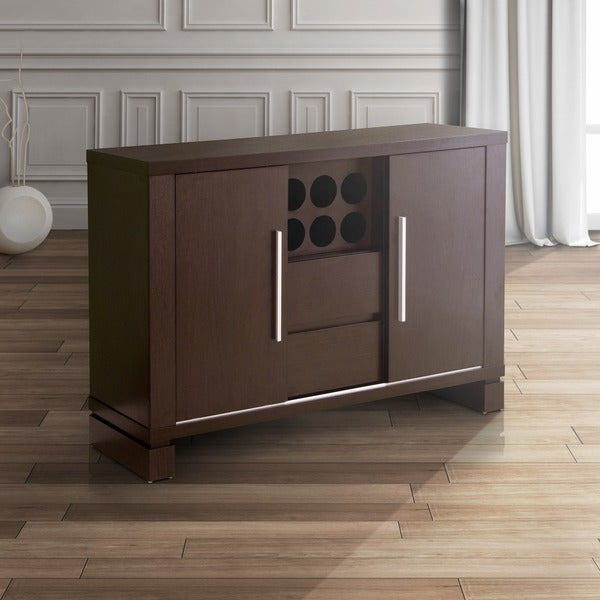 Furniture of america serrano cappuccino finish dining for Furniture of america alton modern multi storage buffet espresso