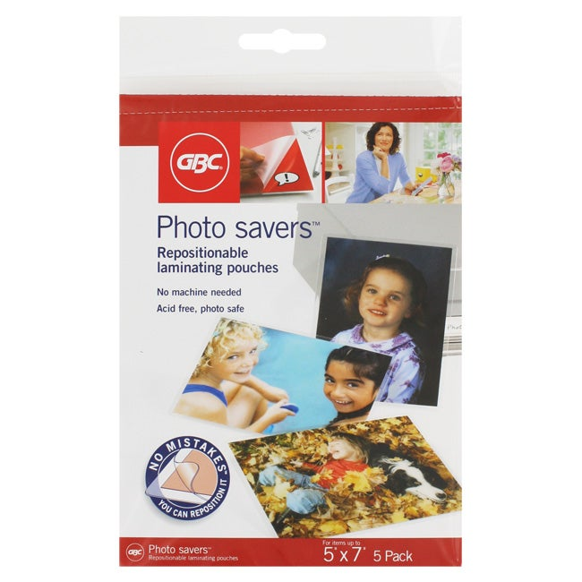 GBC 5x7-in Photo Savers Repositionable Laminating Pouches (Pack of 30) - Thumbnail 0