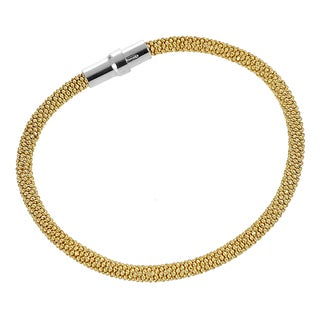 Journee Collection Goldplated Sterling Silver Magnetic Popcorn Bracelet