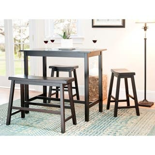 Kitchen Pub Table Bar pub table sets for less overstock safavieh bistro 4 piece counter height bench and stool pub set workwithnaturefo