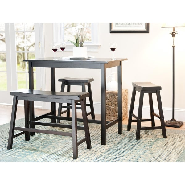 Awesome Safavieh Bistro 4 Piece Counter Height Bench And Stool Pub Set 24 X 44 X 36 Home Interior And Landscaping Dextoversignezvosmurscom