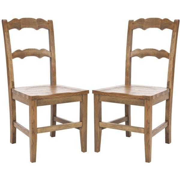 Safavieh Country Classic Dining Chatel Oak Finish Dining Chairs (Set of 2)