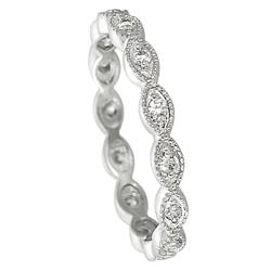 Sterling Silver Cubic Zirconia Accent Eternity Band