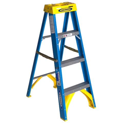 Werner 4-foot Blue Fiberglass Stepladder