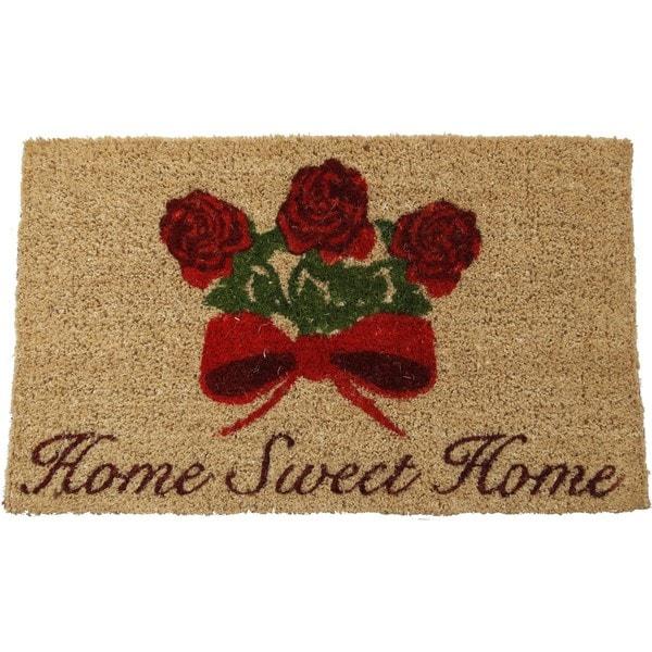 Home Sweet Home Hand-woven Coir Doormat (18 x 30)