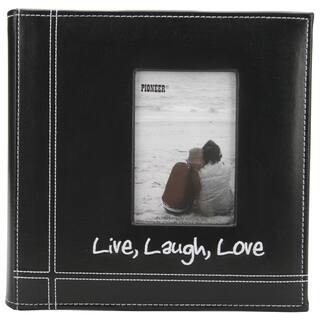 Pioneer Photo Albums Embroidered 200-photo Live Laugh Love Frame Album|https://ak1.ostkcdn.com/images/products/6242959/P13883104.jpg?impolicy=medium