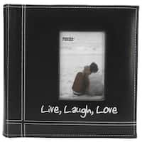 Pioneer Photo Albums Live Laugh Love Embroidered Black Frame 200-photo Album