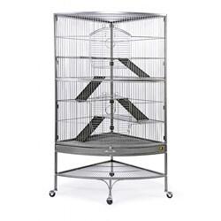 Prevue Pet Products Black Hammertone Corner Ferret Cage