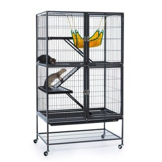 Prevue Pet Products 485 Black Hammertone Feisty Ferret Home with Stand