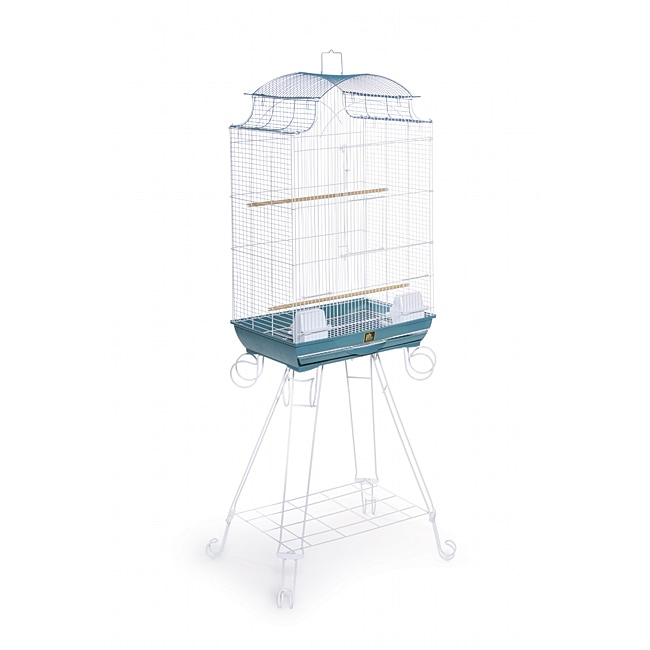 Prevue Pet Products Penthouse Suites Pagoda Roof Bird Cage with Stand 270 Blue and White, 20-Inch by 14-Inch by 29-Inch