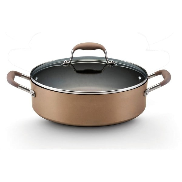 Anolon Advanced Bronze Collection Hard-anodized Nonstick 5.25-quart Covered Sauteuse
