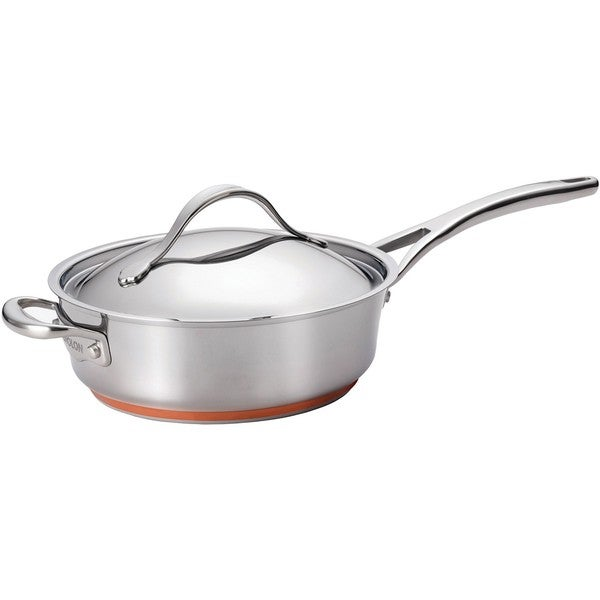 Anolon Nouvelle Copper Stainless Steel 3-quart Covered Saute Pan