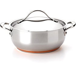 Anolon Nouvelle Copper Stainless Steel 4-quart Covered Chef Casserole