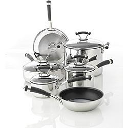 Circulon Contempo Stainless Steel Nonstick 10-piece Cookware Set