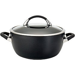 Circulon Symmetry Hard-anodized Nonstick 5 1/2-quart Black Covered Casserole