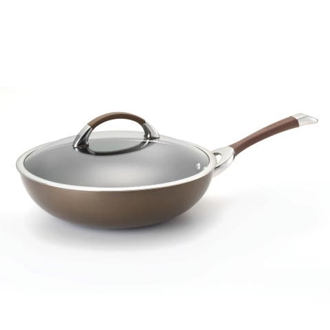 Circulon Symmetry Chocolate Hard-anodized Nonstick 12-inch Covered Essential Pan
