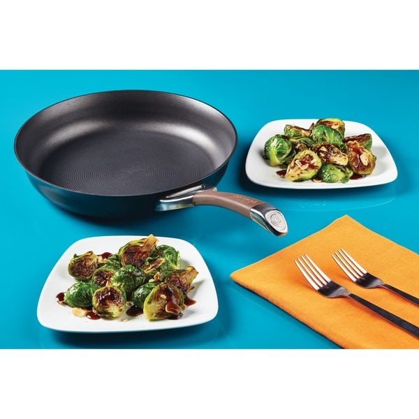 Circulon Symmetry Chocolate Hard-anodized Nonstick 10in, 12in 2pc French Skillets