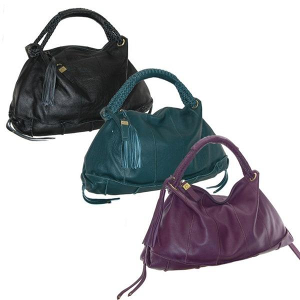 B-Collective Large Pebble Leather Hobo Bag