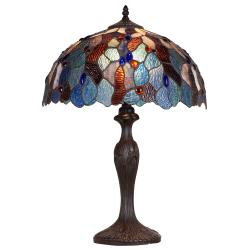 Aztec Lighting Bronze Tiffany-style 1-light Table Lamp