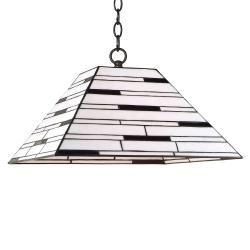 Aztec Lighting Bronze Tiffany-style 1-light Pendant
