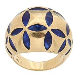 Pre-owned Antonini 18k Yellow Gold Blue Enamel Estate Cocktail Ring https://ak1.ostkcdn.com/images/products/6243373/Antonini-18k-Yellow-Gold-Blue-Enamel-Estate-Cocktail-Ring-P13883384.jpg?impolicy=medium