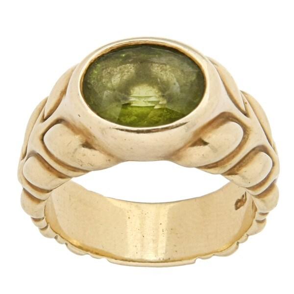 Elizabeth Rand 18k Yellow Gold Peridot Estate Ring