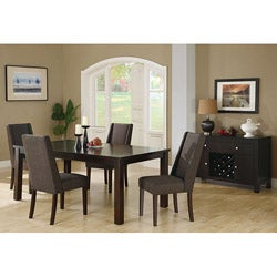 Brown Linen Fabric 40-inch Dining Chairs (Set of 2)