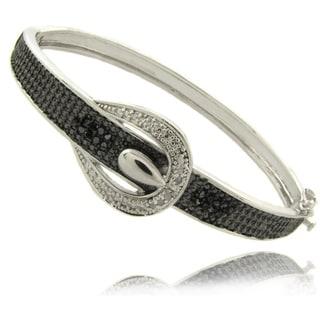 Finesque 1/4ct TDW Black and White Diamond Fashion Bangle