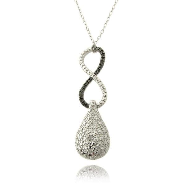 Finesque Silver Overlay Diamond Accent Infinity Neklace