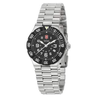 Victorinox Swiss Army Women's 'Summit XLT' Stainless Steel Black Dial Watch|https://ak1.ostkcdn.com/images/products/6243531/P13883510.jpg?impolicy=medium