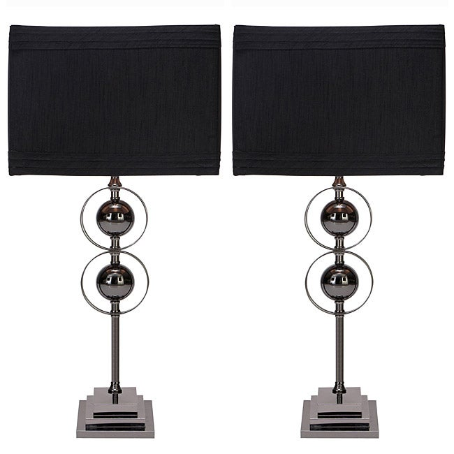 Casa Cortes Loft Obsession Black Table Lamps (Set of 2)