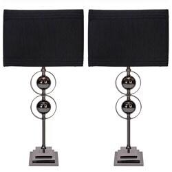 Casa Cortes Loft Obsession Black Table Lamps (Set of 2)