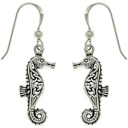Carolina Glamour Collection Sterling Silver Celtic Seahorse Earrings