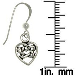 Carolina Glamour Collection Sterling Silver Celtic Heart Earrings - Thumbnail 2