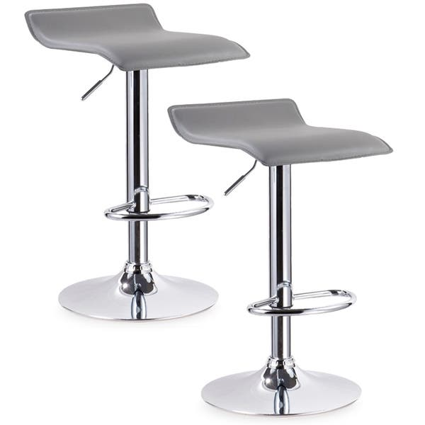 Stupendous Shop Adjustable Height Faux Leather And Chrome Swivel Stool Andrewgaddart Wooden Chair Designs For Living Room Andrewgaddartcom