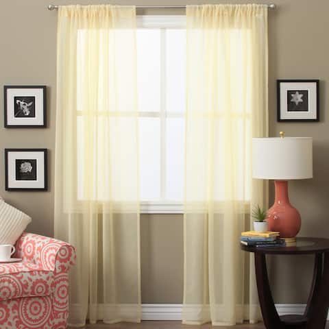Lucerne 72-inch Sheer Curtain Panel Pair - 52 x 72