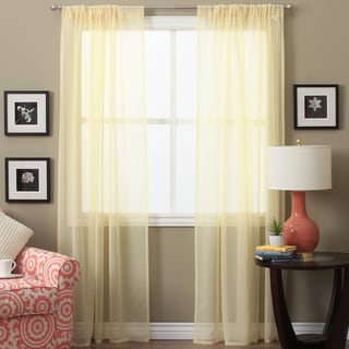 Lucerne 72-inch Sheer Curtain Panel Pair - Free Shipping On Orders ...
