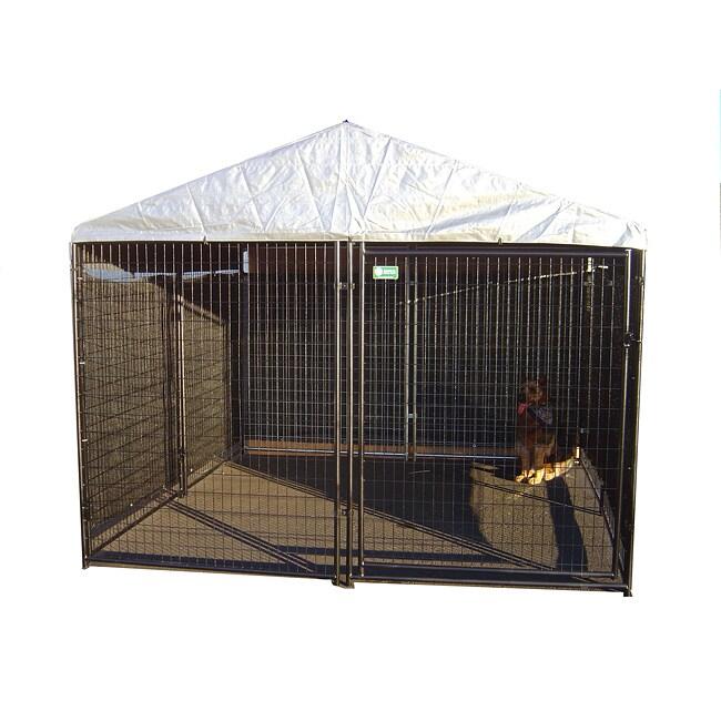 AKC Black Welded Wire Kennel (6x10x10)