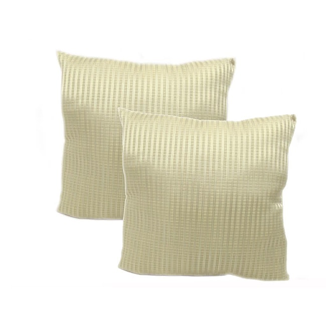 Pinstripe 18-inch Throw Pillows (Set of 2 )