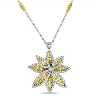 Miadora Signature Collection 18k Two-Tone Gold 1 1/8ct TDW Diamond Necklace