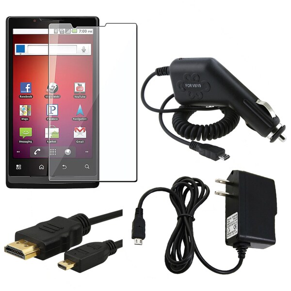 INSTEN Screen Protector/ HDMI Cable/ Chargers for Motorola Triumph WX435
