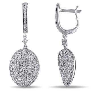 Miadora Signature Collection 18k White Gold 3 4/5ct TDW Diamond Earrings (G-H, SI1-SI2)